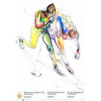 SARAJEVO OLIMPIJSKE IGRE PLAKAT SKIJAŠKO TRČANJE : SARAJEVO OLYMPIC GAMES VINTAGE POSTER CROSS COUNTRY SKIING